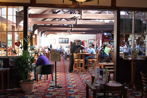 Expansive bar area in the Penny Black, Northwich