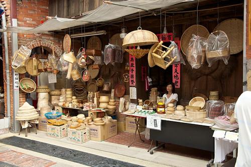 Hand Made Wickerwork for Sale on Shenkeng Old Street in Taipei, Taiwan
