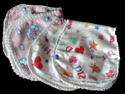 burp clothes by my oldest daughter