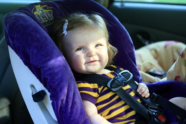 LSU Car Seat Girl