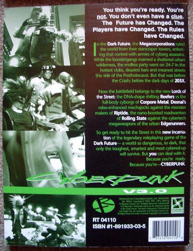 Rear cover of Cyberpunk