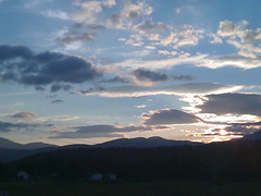 Sunset in Stowe