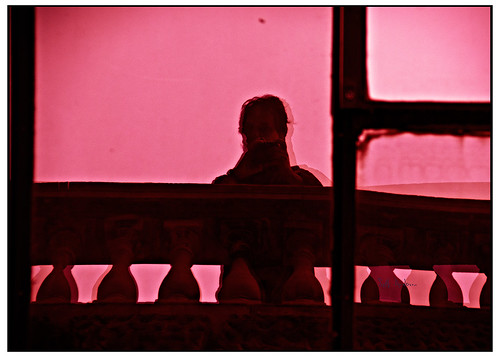 Self Portrait Waterloo Bridge - Sensia Red