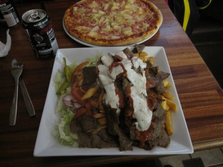 Today's lunch: Kebab and chips