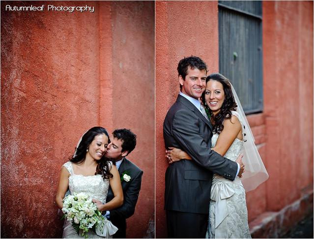 Amanda and Kieran's Wedding- Red Wall