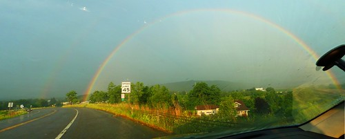Rainbow on the road