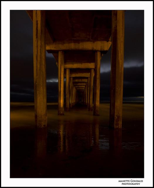 Under Scripps Pier.