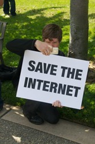 Save the internet Net Neutrality protest at  G...