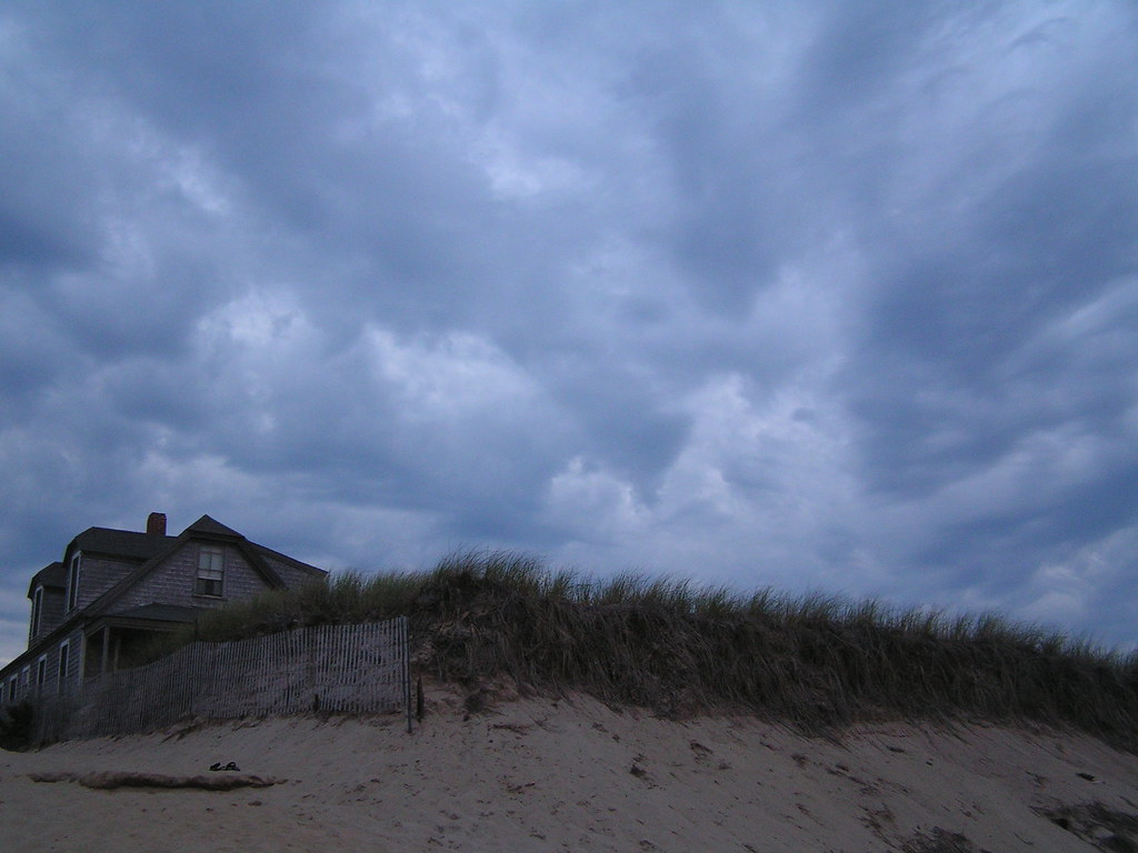 Brooding, pre-dawn sky over Ballston Beach, Truro, Mass.