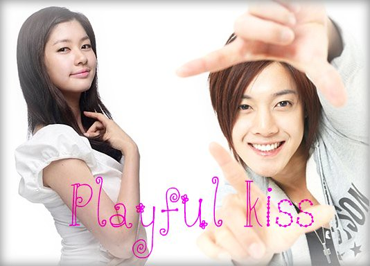 playfull kiss