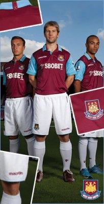 West Ham Macron 2010/11 Home Kit