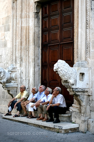 Older Gentlemen Watching...in Puglia