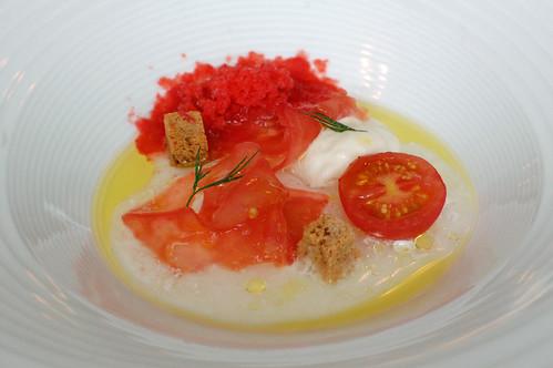 Tomato, Mozzarella and Strawberry Granita