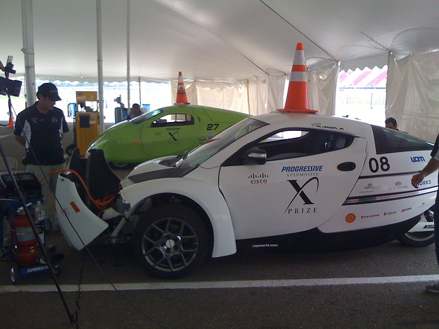 ZAP Alias and Wave II electric cars following the X PRIZE Final Race