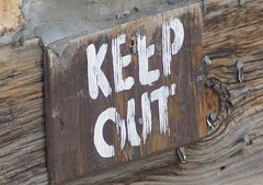keep out sign in nevadaville