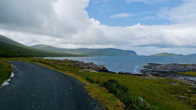 Coast road along Loch na Keal