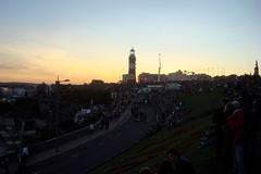 Crowds gather on Plymouth Hoe
