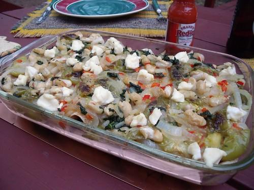 Tomatillo, Kale & White Bean Enchiladas