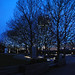 Blue Tree Lights at the Thames