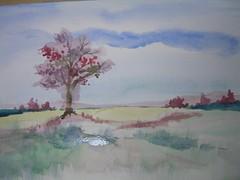 Art practice - Tree in a field (3 of 4)