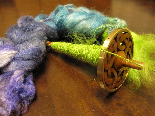 cashmere silk fiber with drop spindle