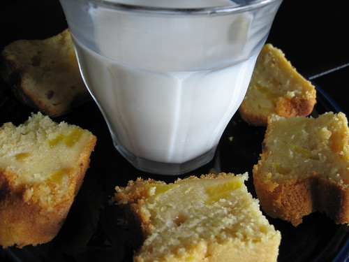 milk honey peach cake