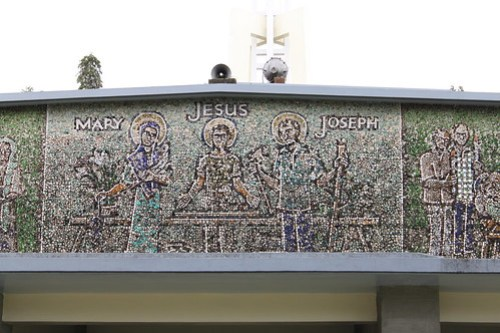 Mosaic outside the Church of the Angry Christ