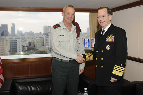 Admiral Mike Mullen Meets with Soon-to-be IDF Chief of Staff