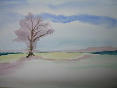 Art practice - Tree in a field (2 of 4)