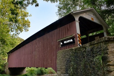 Mercer Covered Bridge HDR 02 (Low Point of View)