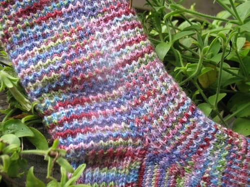 Faceted Rib Socks Detail