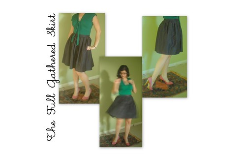 Full Gathered Skirt_black