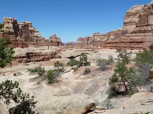 View from Druid Arch, the Needles, Canyonlands
