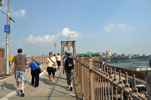 Walking the Brooklyn Bridge with Context Travel, June 2010
