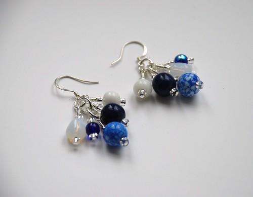 """""""Vintage blue"""" earrings"""