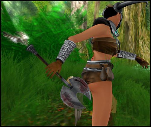 female barbarian - axe detail
