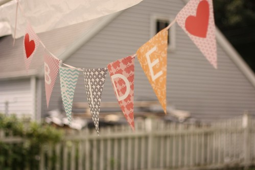 tiffany shower bunting