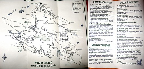 Mayne Island Hiking Map