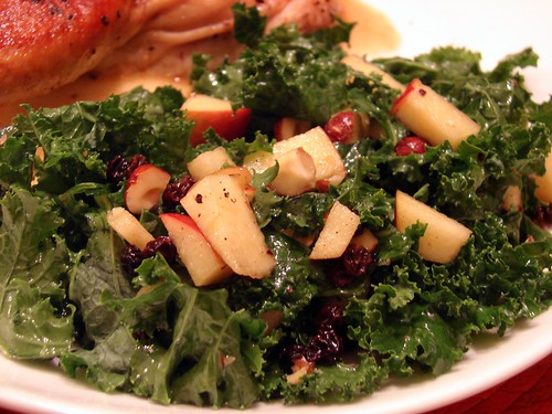 Kale Salad With Apples & Currants