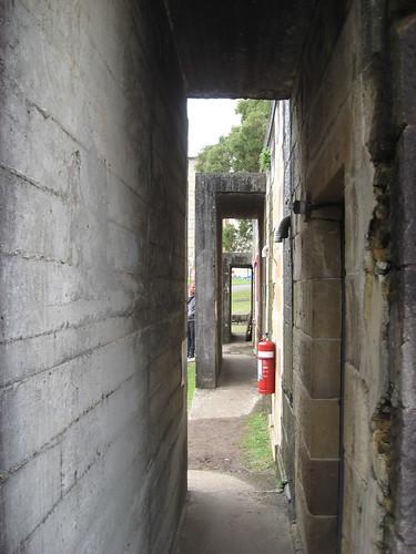 Air raid shelter entrances