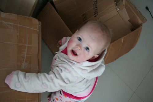 Moving Baby with Boxes
