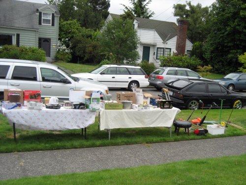 Outdoor estate sale
