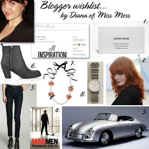 Miss Moss wishlist