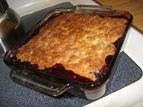 cherry, strawberry, blueberry and tayberry crisp recipe