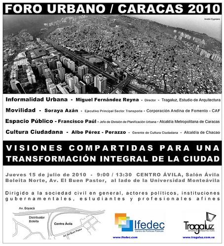 Foro urbano / caracas 2010