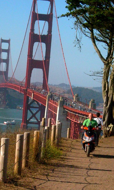 When you're so close, you just have to ride over to the Golden Gate Bridge. . .