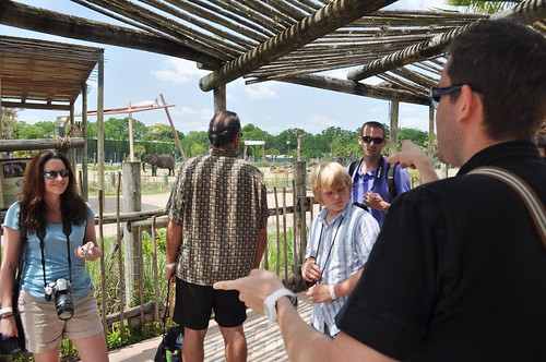 Jason Davis (R) Talks with Central Florida TBEX Members, with Lowry Park Zoo, Tampa, Fla., April 10, 2011