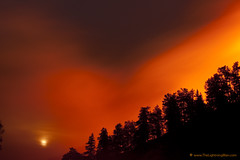 Moon Rising in the Rocky Mountain Wild Fire #40