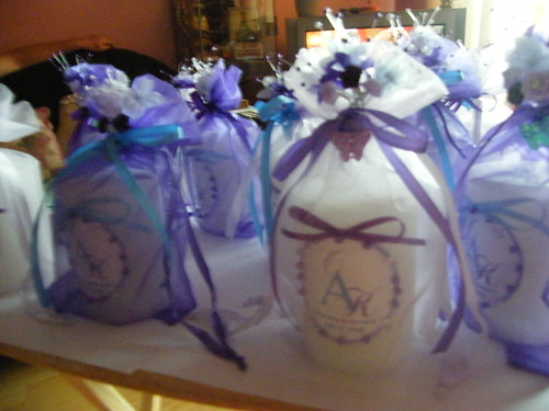 candle wedding favor
