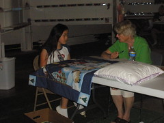 Sophia Talking About Quilted Wallhanging